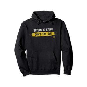 Trying-black-hoodie