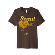 sweat Love shirt - dark brown